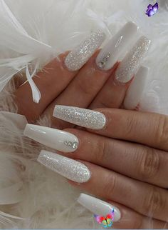 70+ Hot Acrylic Coffin Nails Trend Ideas In 2019 – – Beauty 70+ Hot Acrylic Coffin Nails Trend Ideas In 2019 -<br> White Coffin Nails, Coffin Nails Long, Long Nails, Stiletto Nails, Short Nails, Nails Acrylic Coffin Glitter, Christmas Acrylic Nails, Winter Acrylic Nails, Coffen Nails