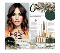 """Green With Envy: Wintery Nail Polish"" by thewondersoffashion ❤ liked on Polyvore featuring beauty, Gorham, Smith & Cult, alexachung, nailedit and smithandcult"