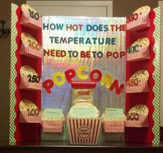 5th Grade Science Fair Project 20 Kernels of popcorn heated for 3 minutes at each temperature.  Easy and Fun