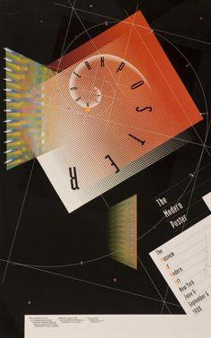 April Greiman • The modern poster - The Museum of Modern Art New York (Original Plakattext), 1988