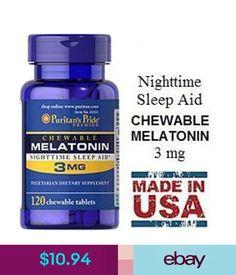 Vitamins & Minerals Puritan's Pride Chewable Melatonin 3 Mg - 120 Chewables - Nighttime Sleep Aid #ebay #Fashion