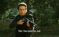"I don't think I'm being immodest when I say that Tim Gutterson saying ""Nope"" would be a great reaction gif.  Or that I can't spell ""immodest"" #Justified #Jacob Pitts #Tim Gutterson"