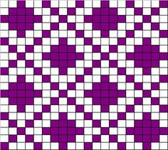 filet crochet Chart for filet chrocheting or cross stitch: Tapestry Crochet Patterns, Fair Isle Knitting Patterns, Bead Loom Patterns, Crochet Stitches Patterns, Knitting Charts, Weaving Patterns, Loom Knitting, Knitting Stitches, Cross Stitch Patterns