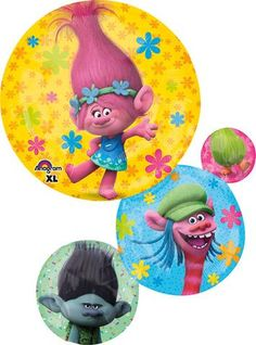 28 Inch Shape Trolls Balloon, Trolls Birthday, Poppy