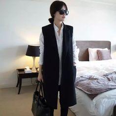 Vest Women Fashion 2015 Summer Long colete femininon Black crochet ...