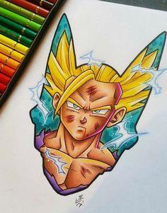 Gohan Cell Saga Tattoo Design by Hamdoggz on DeviantArt Dragon Ball Gt, Fan Art, Dragon Tattoos For Men, Manga Dragon, Marvel Tattoos, Ssj2, Draw On Photos, Desenho Tattoo, Akira