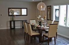 Gorgeous living room/ dining room combo with an open floorplan! #burlingame #realestate #elledecor #sf #bayarea #diningroom #lightfixture