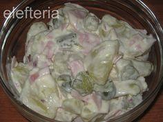 Γεύση Ελευθερίας: πατατοσαλάτα η γερμανική Potato Salad, Salads, Potatoes, Homemade, Chicken, Meat, Ethnic Recipes, Food, Eten