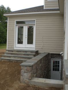 1000 images about basement on pinterest basements for Adding exterior basement entry
