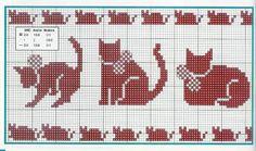 Artes de Maria Helena: Barrados de Gatinhos Vermelhos