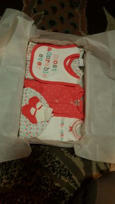 How we pack layettes at bubbles and tea cups