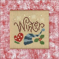 Lizzie Kate - Winter-ize Boxer Jr Kit [LKB16] - $7.20 : Laurel's Stitchery, The best little stitchery shop on the internet!