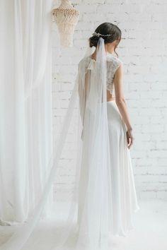 Draped Italian Tulle Wedding Veil - Chloe-weddings, wedding, bridal, bride, accessories, Draped Italian Tulle Wedding Veil, wedding veil, tulle wedding veil, draped veil, allyson james
