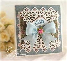 Easter Card using Spring Words and Oval Nested Labels Medallion die