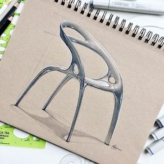 Ross Lovegrove's Go Chair by @sketchypat . . . . . #idsketching #sketch #sketching #sketchdemo #sketchbook #markersketch #copicmarkers #touchmarkers #doodle #pencilsketch #representation #glass #aluminum #productdesign #illustration #productdesignsketching #industrialdesign #industrialdesignsketch #sketchoftheday #sketchaday #sketchbook #designer