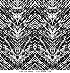 Black and white hand drawn vector seamless pattern with zigzag lines. Texture for web, print, home decor, textile, wrapping paper, wallpaper, invitation card background, summer fall fashion fabric - stock vector