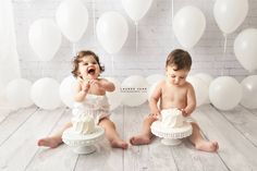 """this is so clean and simple :) our """"Savannah"""" backdrop and """"Froth in Grey"""" mat floor is perfect for newborns, sitters, families, seniors. 1st Birthday Photoshoot, Baby Boy 1st Birthday, Photographer Backdrop, Twin Cake Smash, Boy Pictures, Christmas Minis, 1st Birthdays, Baby Love, 1 Year"""