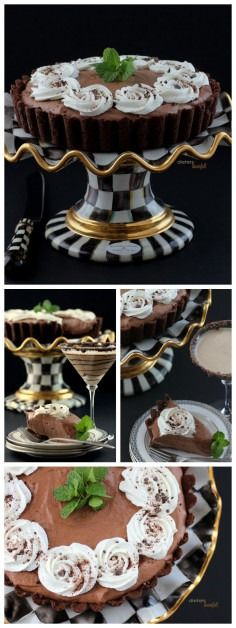Mint Chocolate Mousse Tart recipe—an irresistible dessert for summertime!