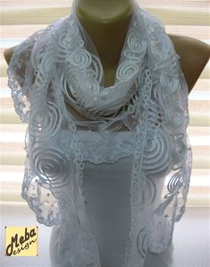 Lace scarf white Scarf-gift Ideas For Her Women's