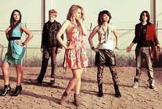 Lemonade Mouth. Actually kind of obsessed..and they are actually rather talented.. Yes... I don't know why they didn't make it an official band... Rather wasted talent....