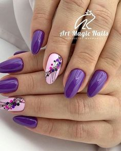 In search for some nail designs and ideas for your nails? Listed here is our list of must-try coffin acrylic nails for stylish women. Manicure Nail Designs, Nail Manicure, Toe Nails, Coffin Nails, Purple Nail Art, Pink Nails, Purple Nails With Design, Glitter Nails, Gel Nail Art