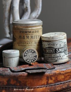 This is So Me! I collect old tins!!!