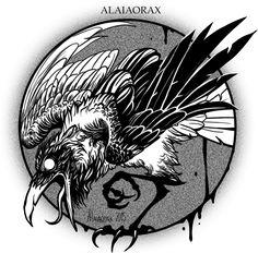 "Corvidae making some SERIOUS ""Noise"" by Alaiaorax"