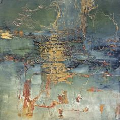 Contemporary Painting - End Of The Pavement (Original Art from jeane myers) Abstract Photography, Levitation Photography, Experimental Photography, Exposure Photography, Water Photography, Wedding Photography, Encaustic Art, Oil Painting Abstract, Art Auction
