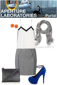 Outfit Inspired by Aperture Laboratories from Portal (Outfit by Console to Closet - Fashion Inspired by Games)