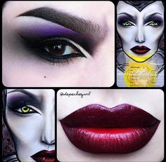 Maleficent -elokuvasta inspiroitunut meikki | Maleficent movie inspired dramatic makeup