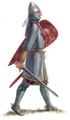 The leaders of the Anglo-Norman armies wore the best and most complete armor. Medieval World, Medieval Knight, Medieval Armor, Medieval Fantasy, Larp, Norman Knight, Normandie France, High Middle Ages, Armadura Medieval
