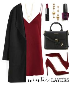 """Winter Layers: Slip Dress"" by lgb321 ❤ liked on Polyvore featuring Jennifer Zeuner, Gianvito Rossi, Burberry, NARS Cosmetics, Mikimoto, OPI, women's clothing, women, female and woman"