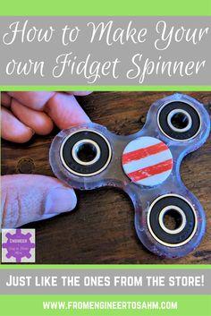 How to make a fidget spinner | Fidget Spinner DIY | How my son and I make our own Fidget Spinner with bearings!