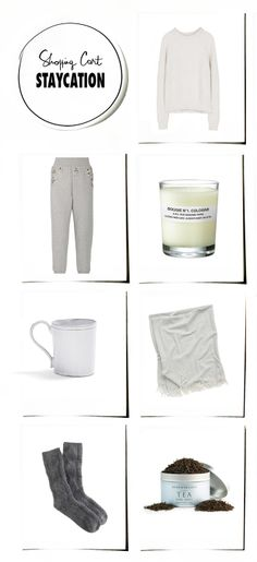 Cozy things - white, calm, tea, socks, sweater pants, candle, scarf