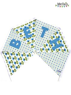 Personalised BUNTING made by me over at www.facebook.com/mellasmakings Personalised Bunting, Kids Bedroom, Playroom, Birthday Parties, Outdoor Blanket, Facebook, Floral, Color, Anniversary Parties
