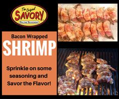 Savor the Flavor! Bacon Seasoning, Bacon Wrapped Shrimp, Crackers, Sausage, Favorite Recipes, Beef, Canning, Website, Check