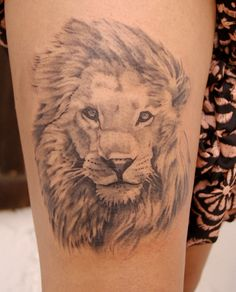Lion Tattoos and Designs Lion Head Drawing, Lion Tattoo On Thigh, Tattoo Inspiration, Tatoos, Body Art, King, Drawings, Artist, Images
