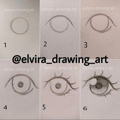 Manga Drawing Techniques How to draw anime eyes - Realistic Eye Drawing, Manga Drawing, Drawing Eyes, Drawing Sketches, Drawing Art, Sketching, Figure Drawing, Easy Eye Drawing, Girl Hair Drawing