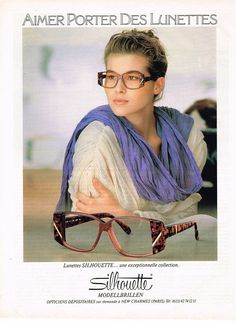 PUBLICITE ADVERTISING 064  1985  SILHOUETTE   collection lunettes