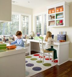 Turn a spare nook of the house into the kid's work space for homework and crafts