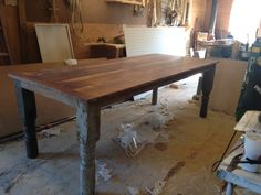 almost done farmhouse / harvest table