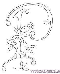 Monogram for hand embroidery m embroider monograms pinterest monogram for hand embroidery letter p spiritdancerdesigns Image collections