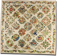 Baltimore Album Quilt, Maker unknown, Made in Baltimore, Maryland, United States, Dated 1846, IQSC 2005.039.0001