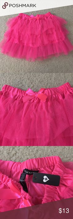 NWT pink glittery tutu skirt Super cute never worn pink sparkly tutu skirt from blackheart (hot topic) hot pink with glitter. Elastic waist. One size fits most. If you have any questions please ask! :) Blackheart Skirts