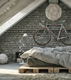 Recycle pallets in bed base