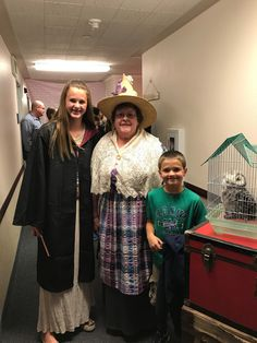 Professor Sprout was in charge of keeping the YW and their families moving in the right direction. One of our girls (and her little bro) poses w/ Prof outside of Platform 9 3/4