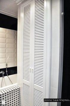 Czarno biała łazienka. Aranżacja łazienki glamour. - Łazienka - Styl Glamour - JedyneTakieWnętrza
