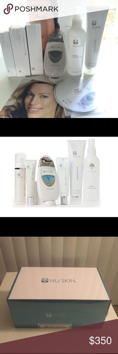 Nu Skin ageLOC Facial Spa Package FACIAL SPA PACKAGE  Nu Skin has unlocked the future of skin care with its in-home spa, the Nu Skin® Facial Spa with Conductive Gel. Using microcurrent technology, this powerful combination stimulates and tones the skin resulting in an improved appearance.  Includes 1 Nu Skin Facial Spa, 1 Nu Skin Conductive Gel, 1 ageLOC Rejuvenating Gel Mask, 1 NaPCA Moisture Mist, 1 ageLOC Gentle Cleanse & Tone, 1 ageLOC Radiant Day SPF 22, 1 DVD, and 1 Brochure…
