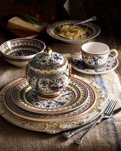-2D2D   Four Pavoes Soup/Pasta Bowls 20-Piece Pavoes Dinnerware Service S/4 Pavoes Dinner Plates
