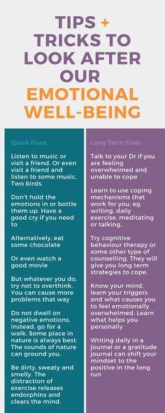 Tips for taking care of our emotional well-being